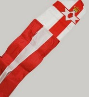 Northern Ireland flag tube windsock 60″ with tails