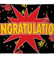 Congratulations flag 5ft x 3ft with eyelets