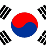 South Korea flag 5ft x 3ft with eyelets