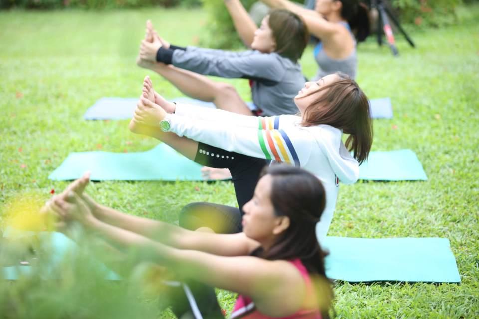 Yoga Class - Nurture Spa Tagaytay with Neutrogena Fine Fairness