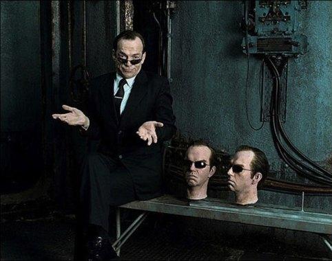 Agent Smith dans Matrix