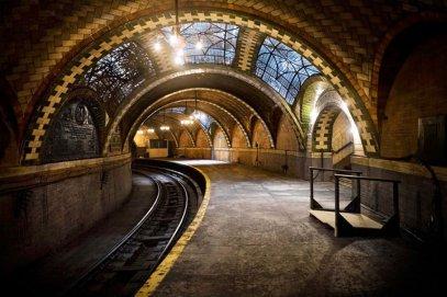 La station de métro abandonnée de City Hall - New York, Etats-Unis