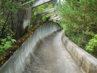 la piste de bobsleigh des Jeux Olympiques de 1984 de Sarajevo