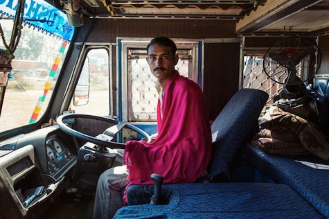Indian Technicolor Trucks Photo