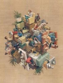 Cinta Vidal Agulló - Peinture sur bois
