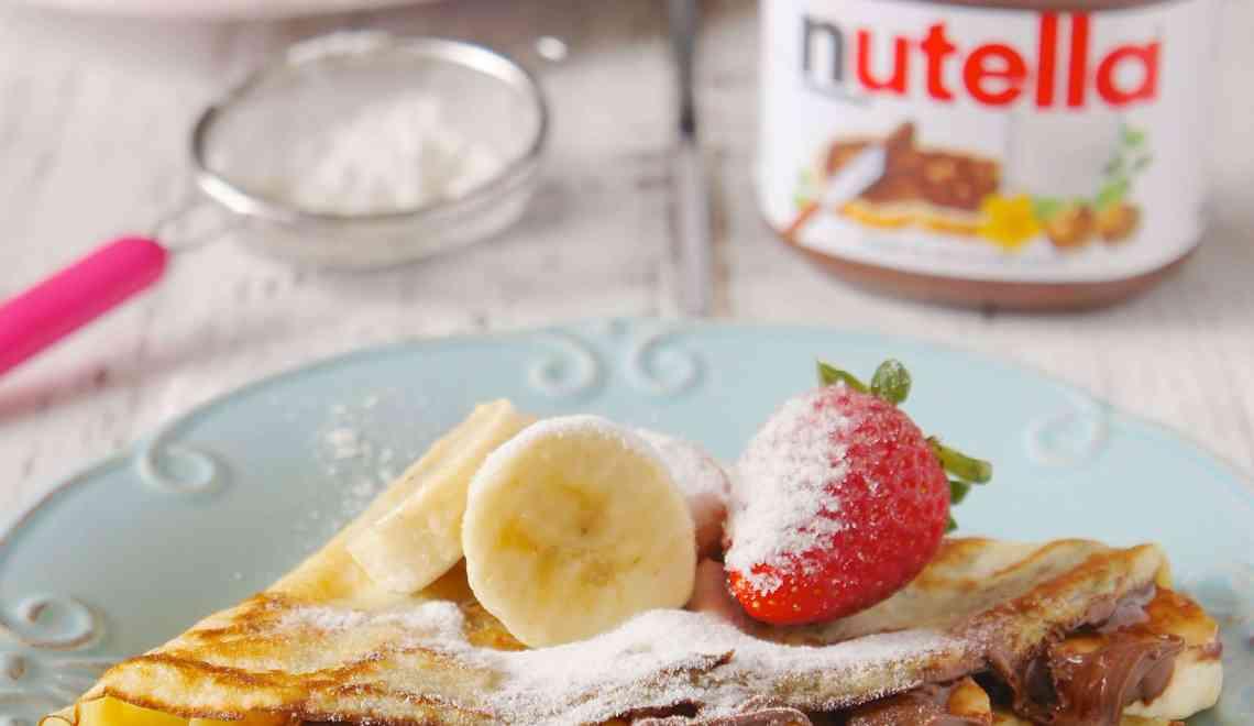 Crepe Banana e Nutella