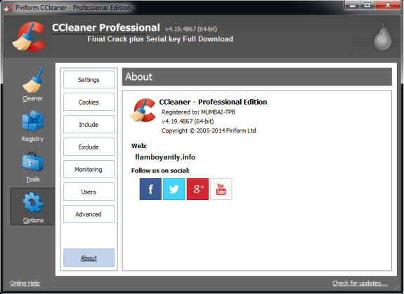 CCleaner Pro 5.38 Crack + Serial Key Full Download