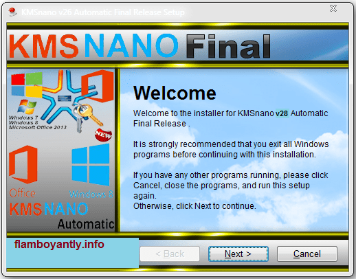 KMSnano Activator v28 for Windows [ Automatic + Final ] Full Download