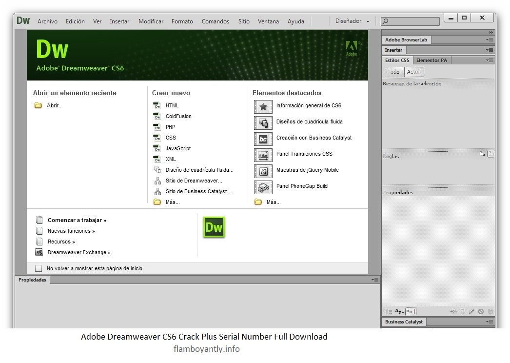 dreamweaver cs6 plus crack