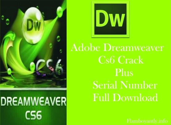 Adobe Dreamweaver CS6 Crack Plus Serial Number Full Download
