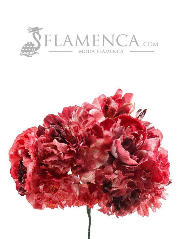 Ramillete de flamenca burdeos