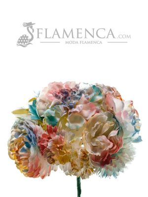 RAMILLETE DE FLAMENCA PASTEL DEGRADADO