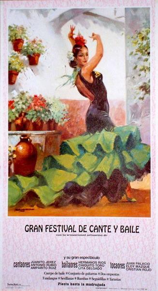 Posters de bailaoras de flamenco