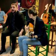 Nicolás Pelegrín por bulerías, a la guitarra Mercedes Luján