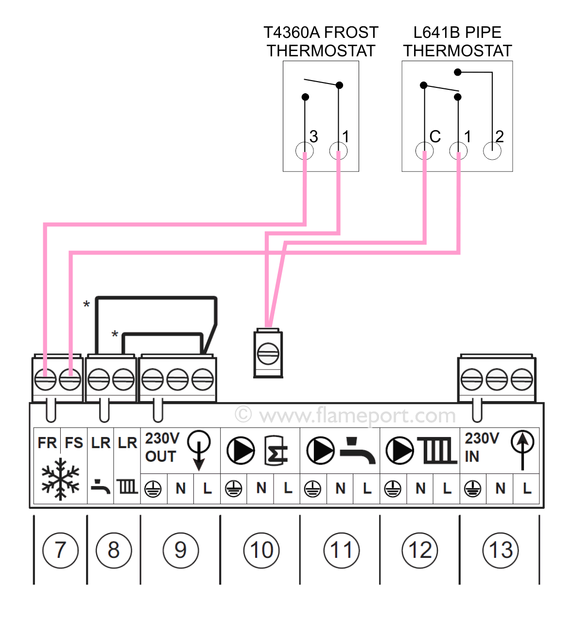 Honeywell Frost Stat Wiring Diagram