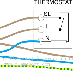 Firebird Boiler Thermostat Wiring Diagram 2002 Honda Accord Audio Thermostats For Combination Boilers Mains Voltage With 3 Wire Connection Earth Not Shown