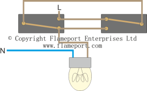 Lighting Circuit diagrams for 1,2 and 3 way switching