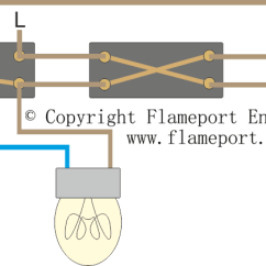 Intermediate Switch Wiring Diagram Uk Hvac Thermostat Diagrams Lighting Circuit For 1 2 And 3 Way Switching