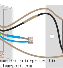 2 gang schematic wiring diagram [ 1499 x 657 Pixel ]