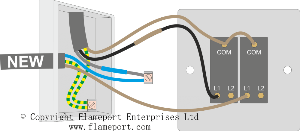 medium resolution of wiring 2 lights to a double switch wiring diagram week wiring a double dimmer switch uk