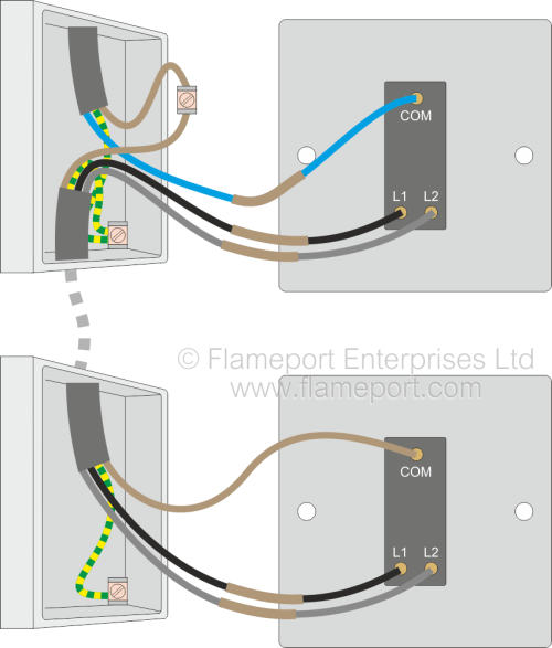 small resolution of two way switched lighting circuits 2 alternative two way switch connections new colours