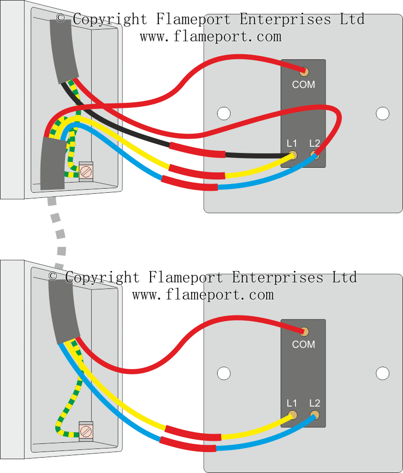 Two Way Switched Lighting Circuits #1