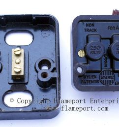 dismantled wylex double pole water heater switch [ 1185 x 837 Pixel ]