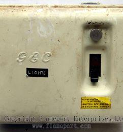 old gec 3 way metal fusebox  [ 1200 x 912 Pixel ]