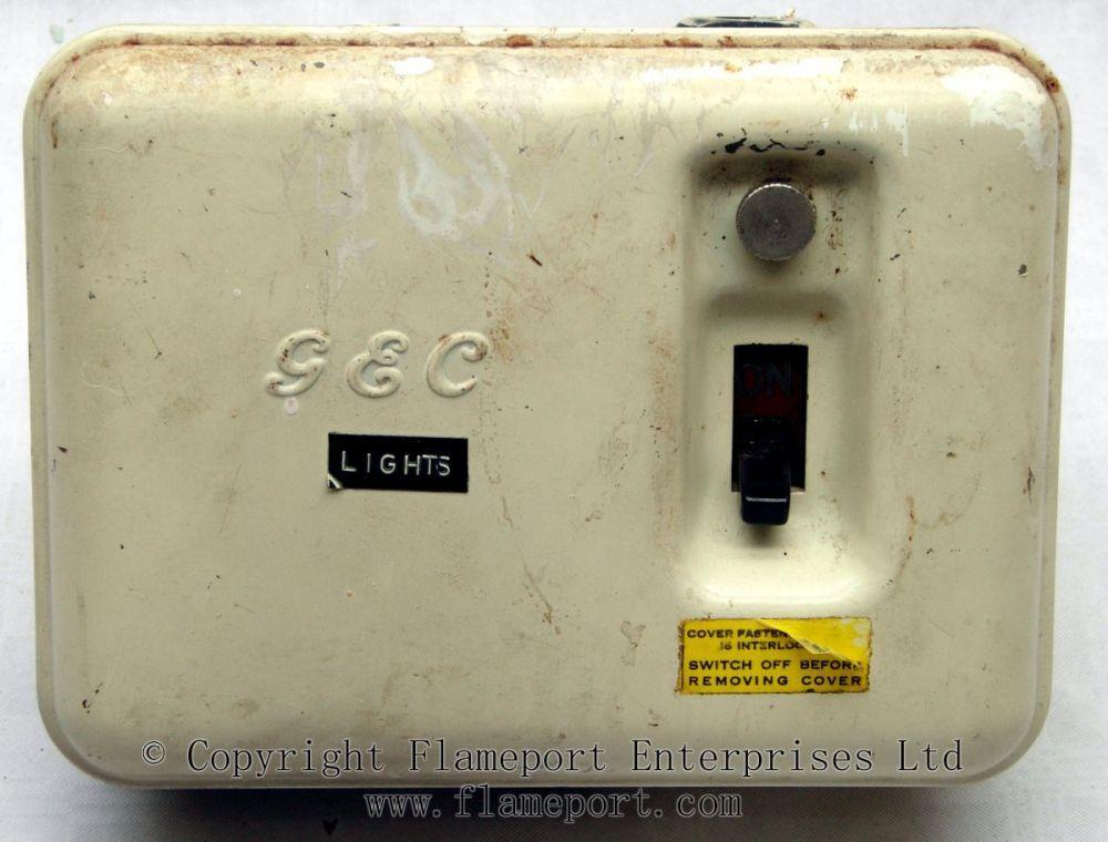 medium resolution of old gec 3 way metal fusebox