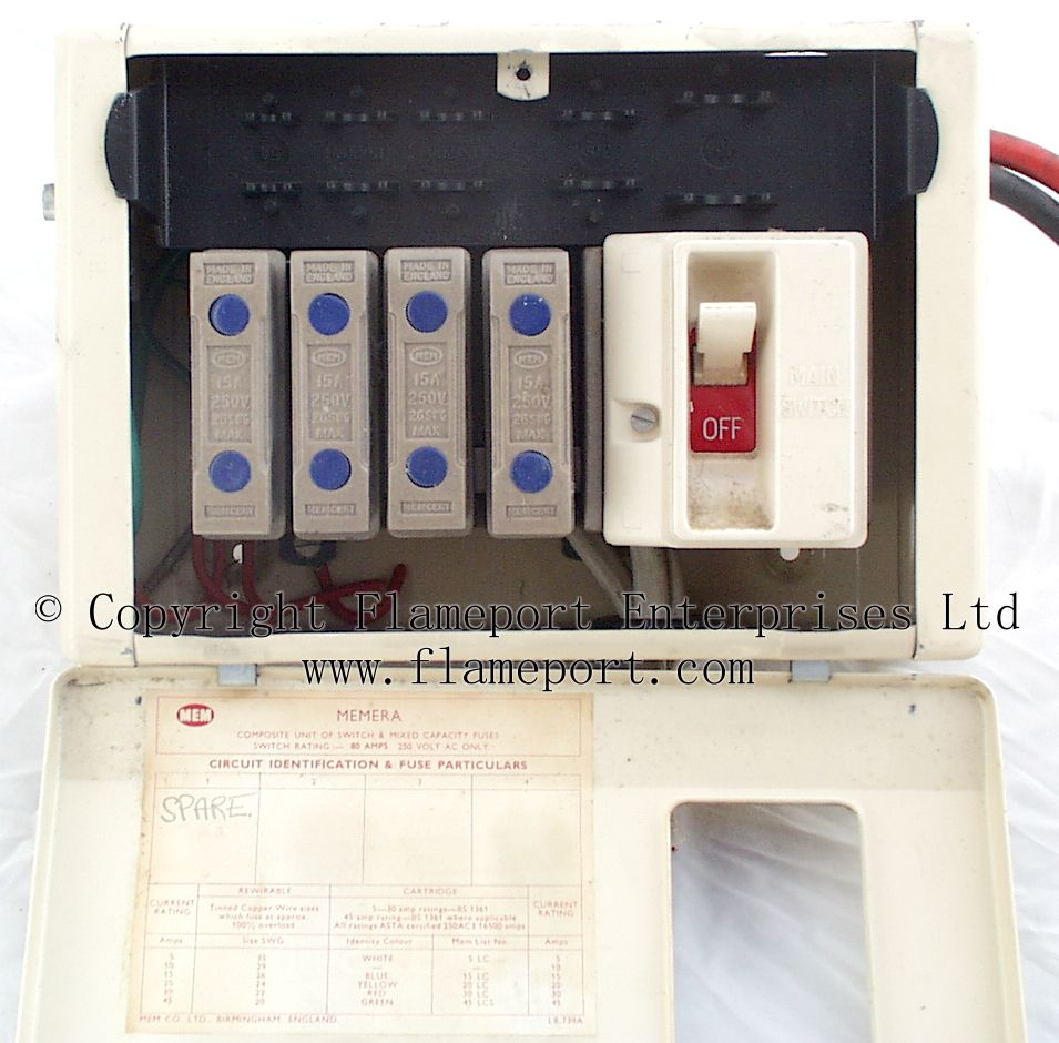 medium resolution of wylex fuse box spares wiring library metal mem 4 way fusebox with cover open