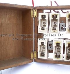 mem wooden cased fuse box with ceramic rewireable fuses rh flameport com open fuse box 2007 [ 1274 x 949 Pixel ]