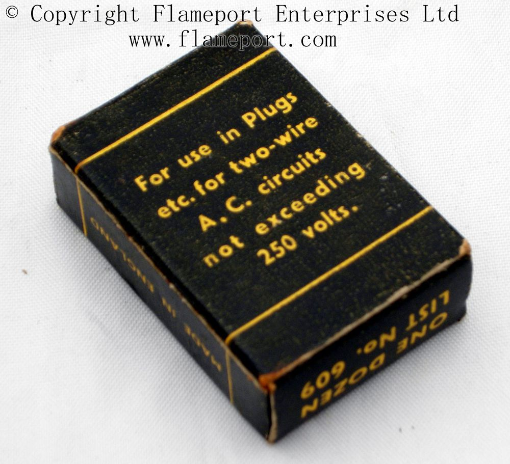medium resolution of back view of a box containing 10a fuses