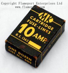 609 box of one dozen 10 amp fuses [ 1074 x 1000 Pixel ]