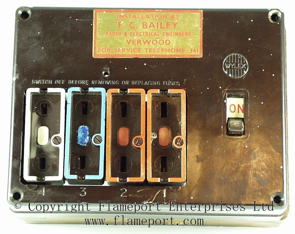 medium resolution of wooden frame and busbar assembly brown wylex fuse box with fuses removed