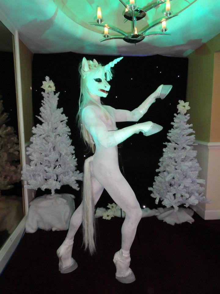 Body Painted Unicorn Walkabout Act  Flaming Fun Event