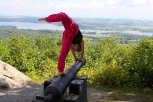 Power yoga in the outdoors