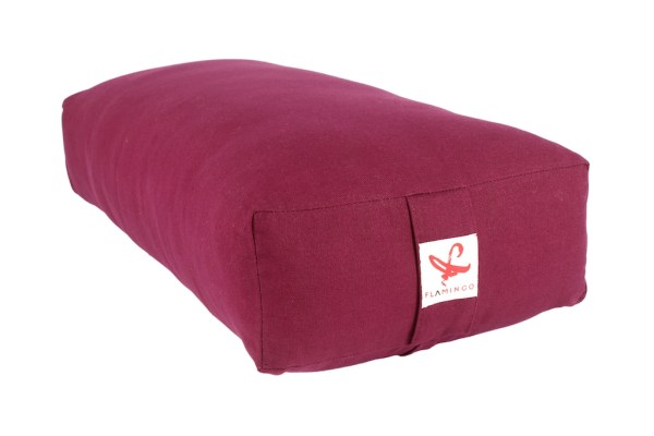Plum coloured rectangular bolster from Flamingo e-boutique
