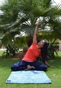 Using eco friendly yoga mat from Flamingo e-boutique