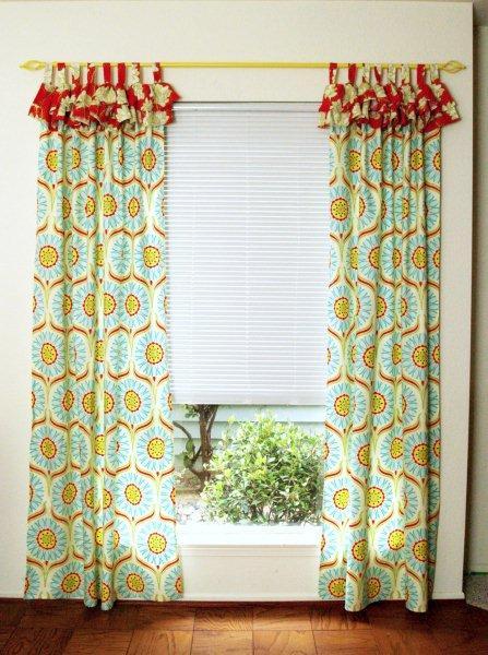 Bright And Cheery Ruffled Curtains