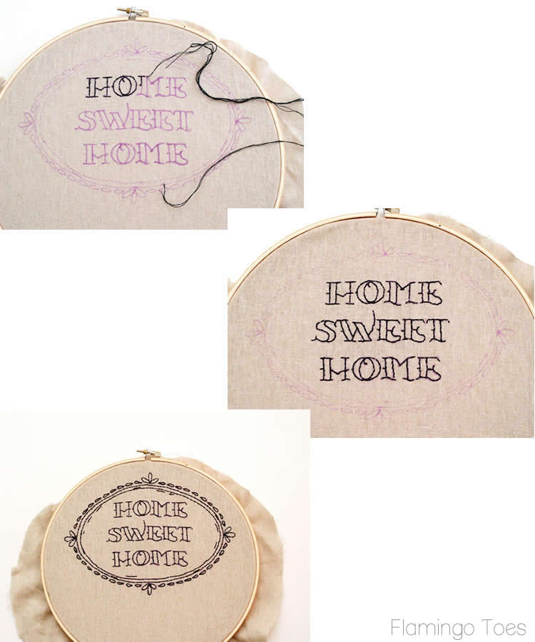 home sweet home stitching