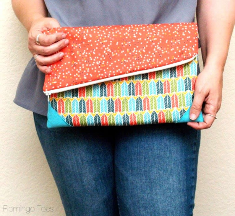 Casual Fold-Over Clutch