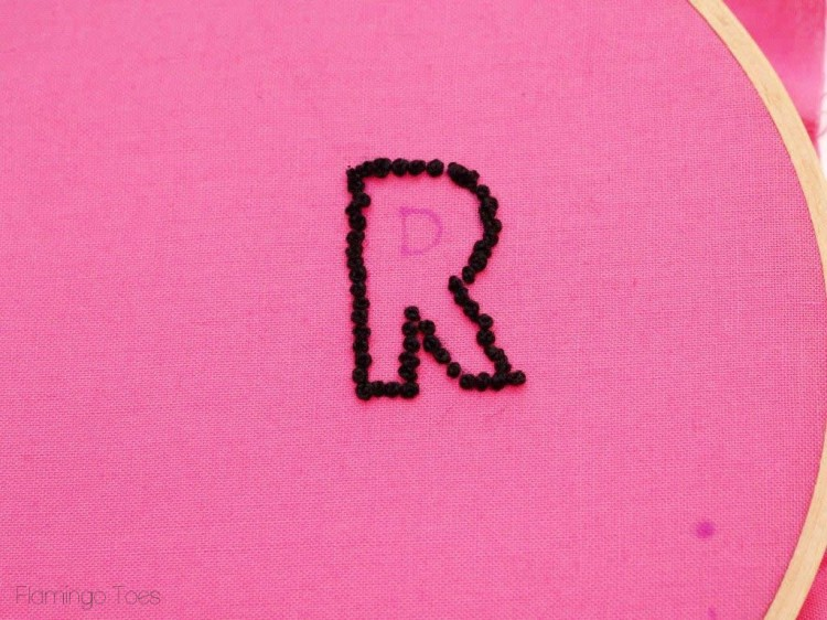french knot monogram