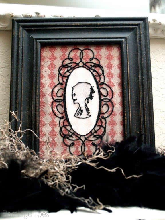 Halloween Cameo Embroidery