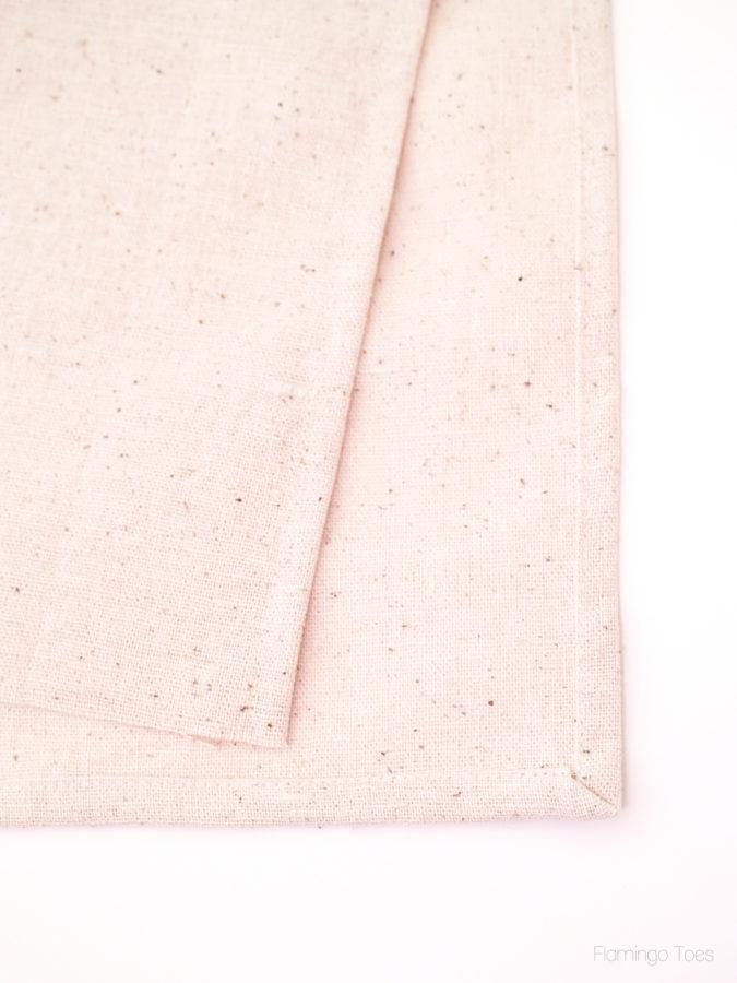 hemming dishtowel edges