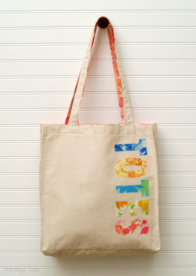 Floral and Canvas Tote