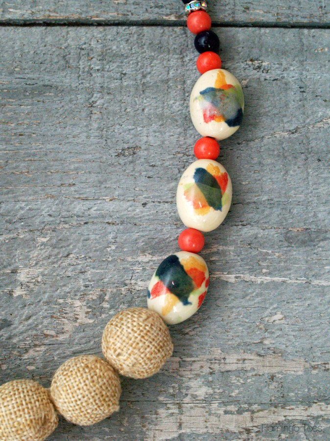 Watercolor Bead Necklace