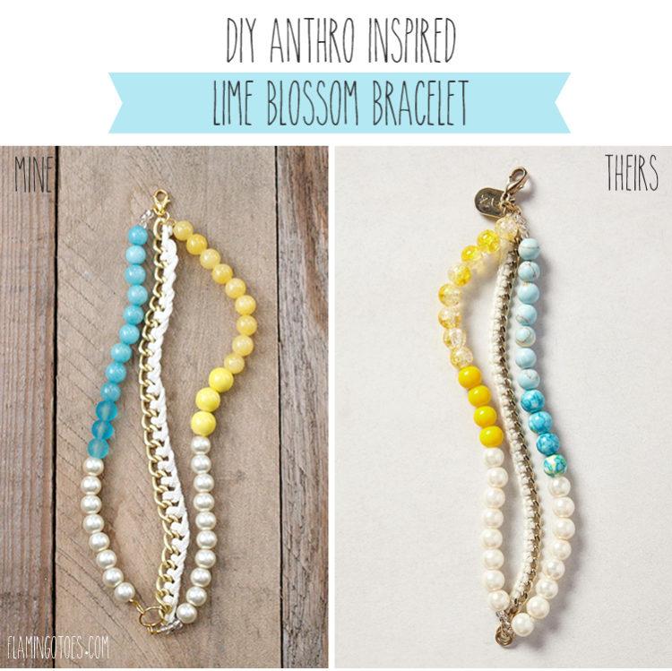 Anthro Inspired Lime Blossom Bracelet