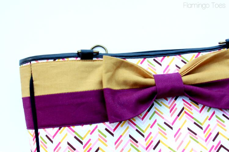 Leather Binding on top of bag