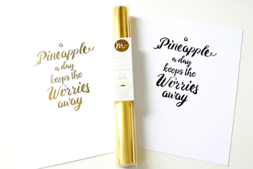 Gold Foil Printable