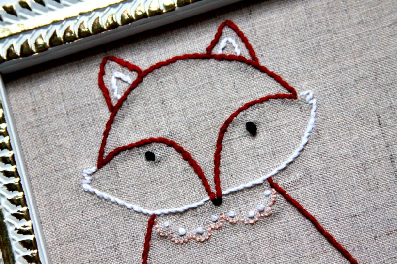 Pretty Fox Embroidery Pattern